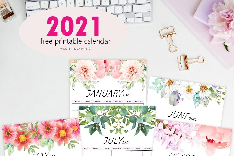 The Most Beautiful Free 2021 Calendar to Print!