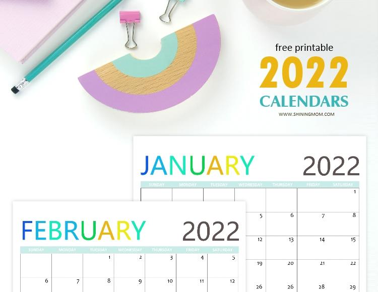 Cute 2022 Calendar.2022 Free Printable Calendars