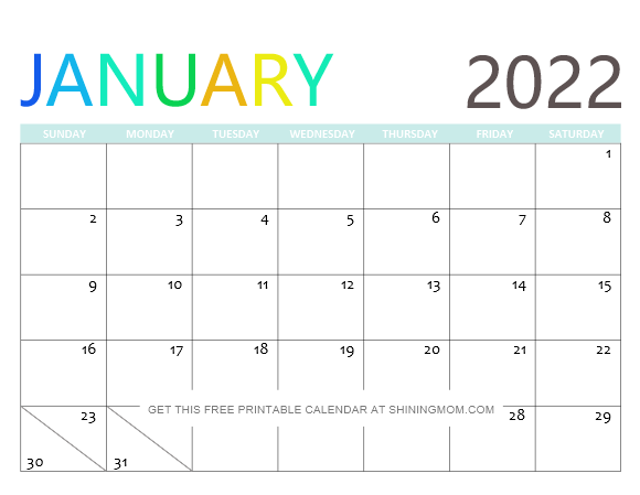 2022 Free Printable Calendars Laptrinhx News