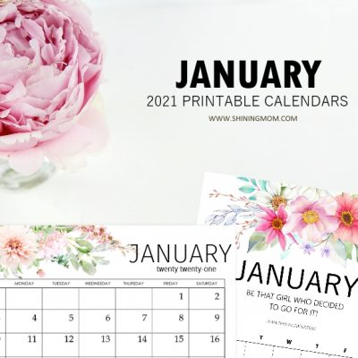 January 2021 Calendars in PDF and Microsoft Word