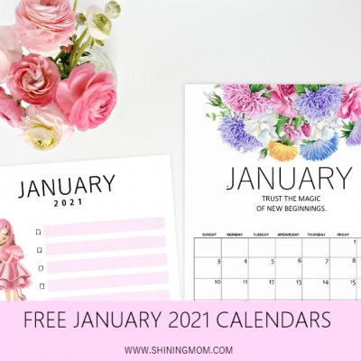 Your Free January 2021 Calendars are Here!