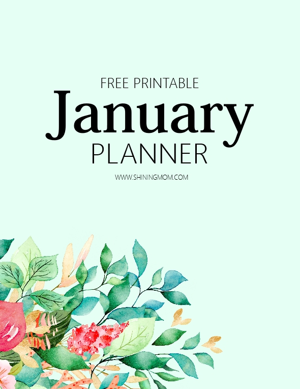 free printable January Planner