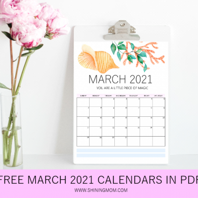 Free Printable March 2021 Calendar: 12 Awesome Designs!