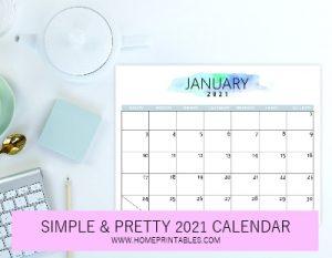 minimalist 2021 calendar pdf