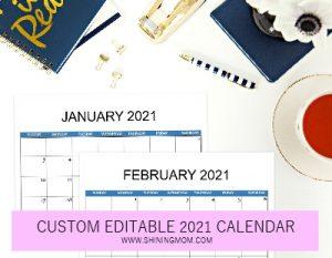 calendar template 2021 publisher