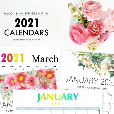 Ultimate List of Best Printable Calendars 2021