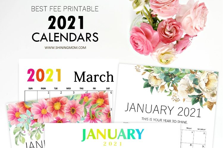 Ultimate List of Best Printable Calendars 2021
