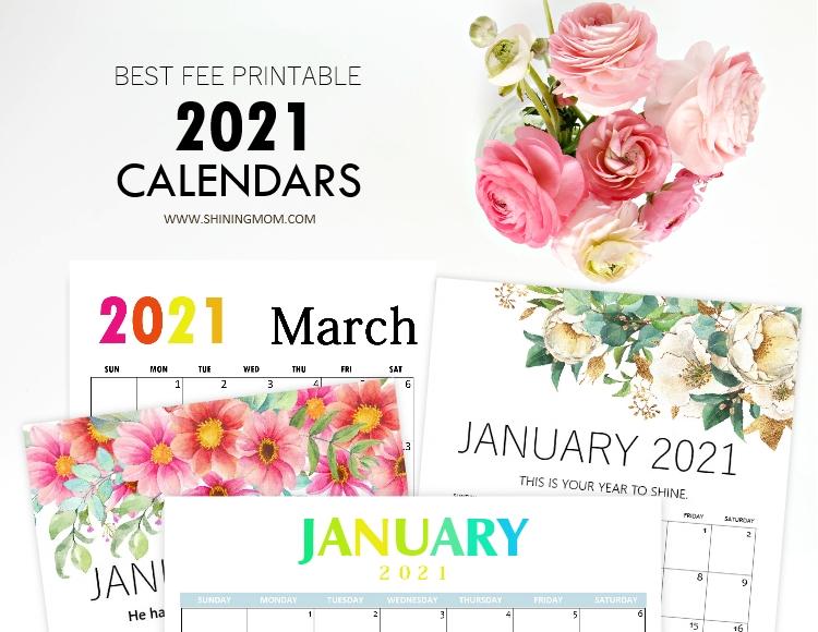 printable calendars 2021