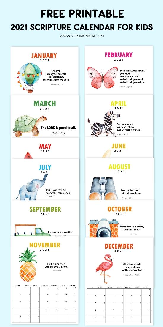 2021 Bible verse calendar