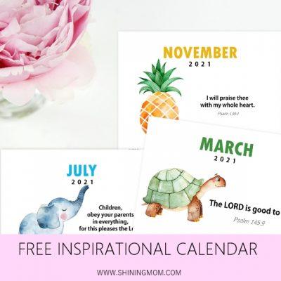 2021 Bible Verse Calendar for Kids: Free Download!