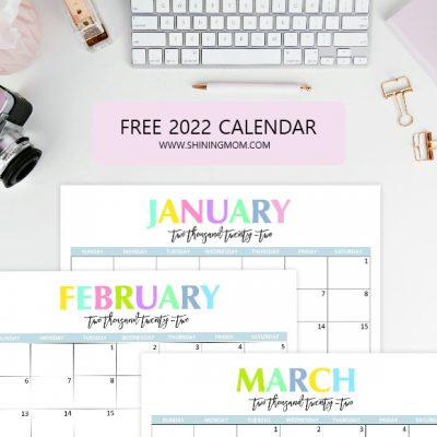 Free Printable 2022 Calendar: So Beautiful and Colorful!