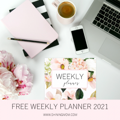 FREE Printable Weekly Planner 2021: So Beautiful in Florals!