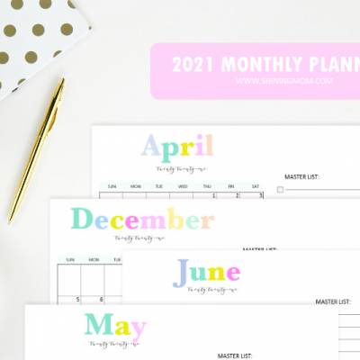 Cute 2021 Monthly Planner Templates to Download!