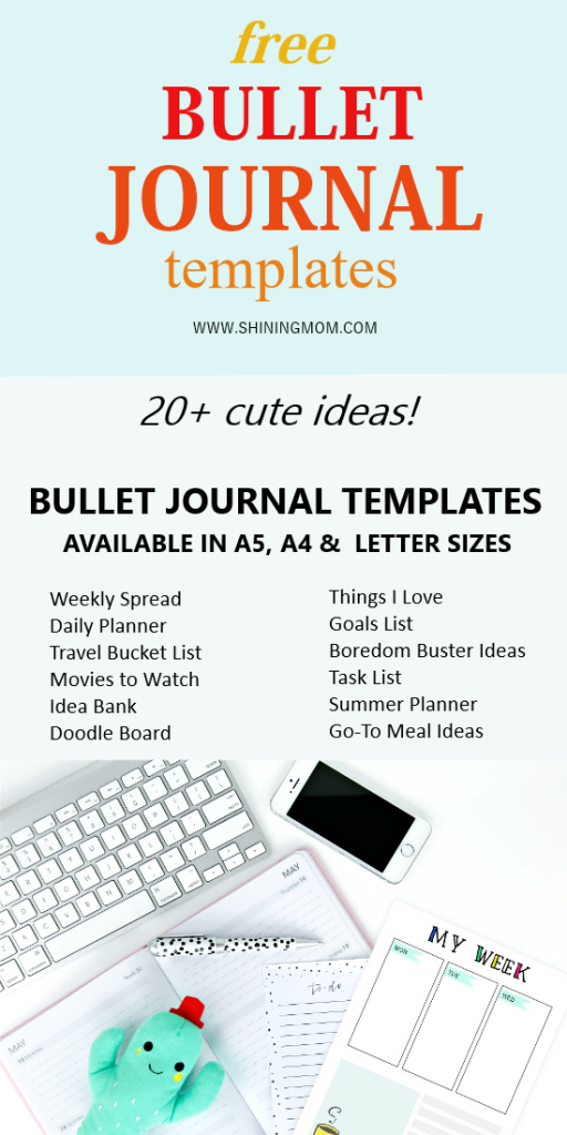 bullet journal template printables