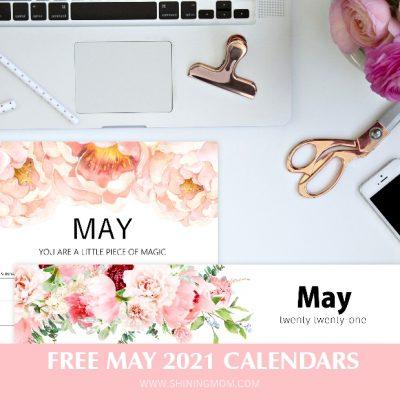 Free Printable May 2021 Calendar: 12 Awesome Designs!