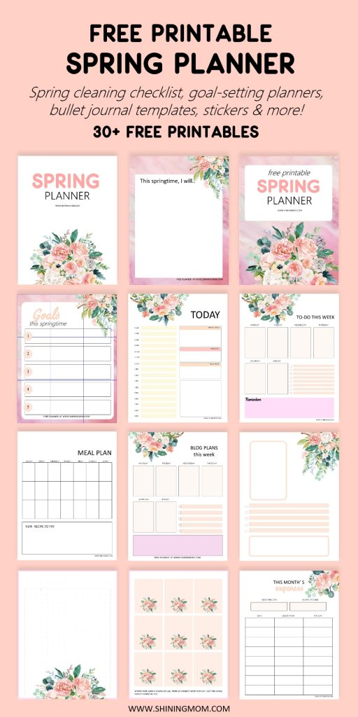 spring printable planner
