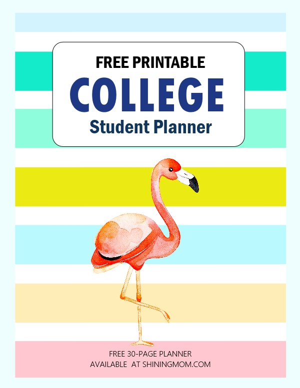 free printable college planner
