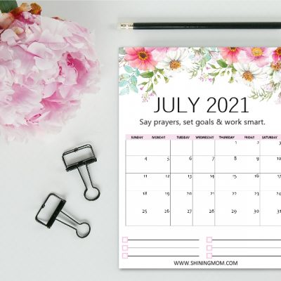 Free Printable July 2021 Calendar: 12 Awesome Designs!