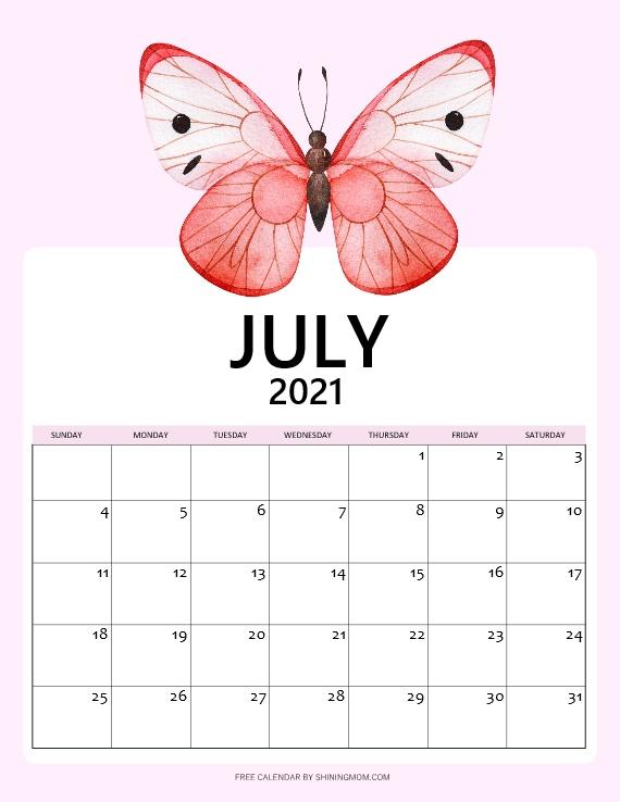 July Calendar free