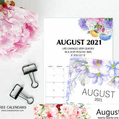 Free Printable August 2021 Calendar: 12 Awesome Designs!