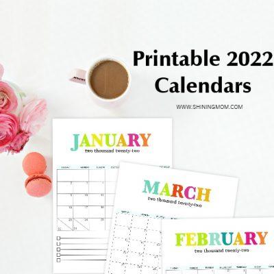 Ultimate List of 2022 Printable Calendars in PDF