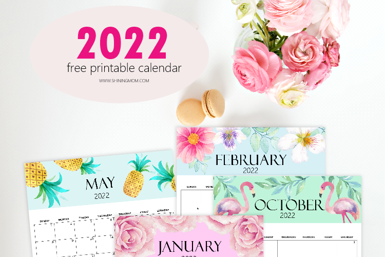 Free Calendar 2022 Printable: 12 Cute Monthly Designs to Love!