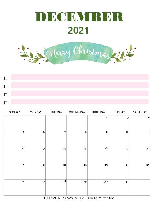 Christmas calendar 2021