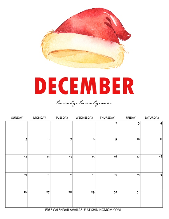 Christmas countdown calendar 2021
