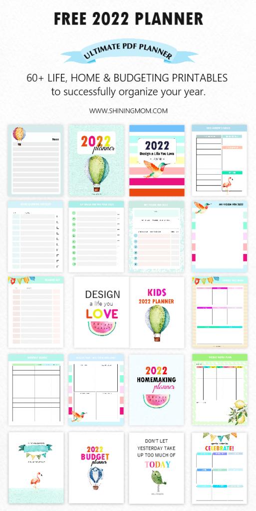 free printable 2022 planner in PDF