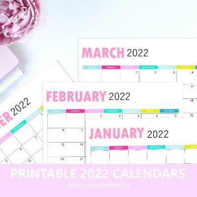 Your Free Printable Calendars for 2022 are Here!