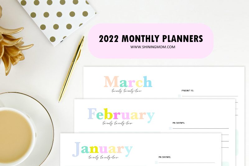 2022 monthly planner templates